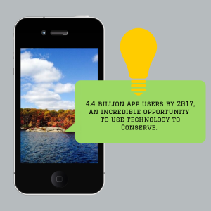 4.4 Billion app users as engaged conservation stewards